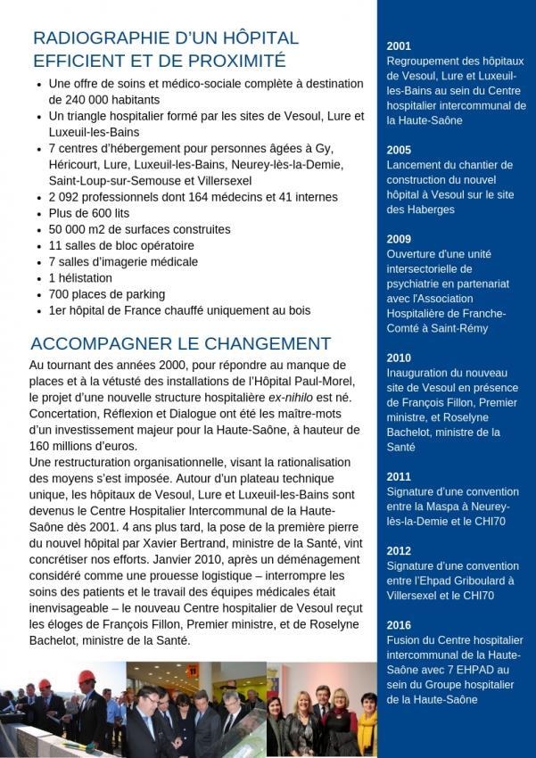 14 décembre 2018 - Alain Joyandet s'est démis de ses fonctions de président du conseil de surveillance du GH 70