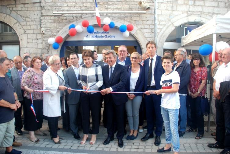 Inauguration du nouveau siège de la Fédération 70 - Les Républicains en présence des cadres, d'Alain Joyandet et Annie Genevard