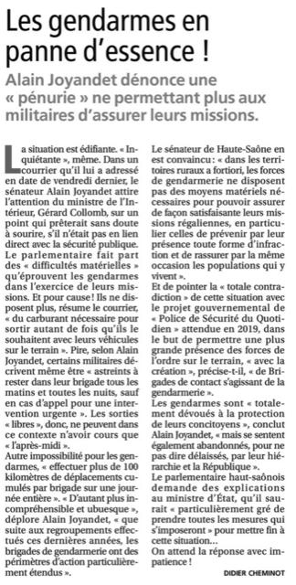 La Presse de Vesoul - 13 septembre 2018