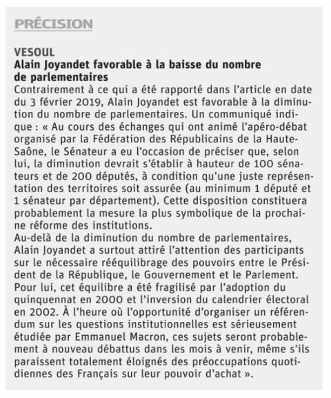 Corrections apportées dans l'édition du 6 février 2019 - L'est républicain Vesoul Haute-Saône