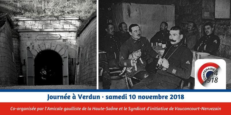 Invitation à Verdun par l'Amicale Gaulliste 70