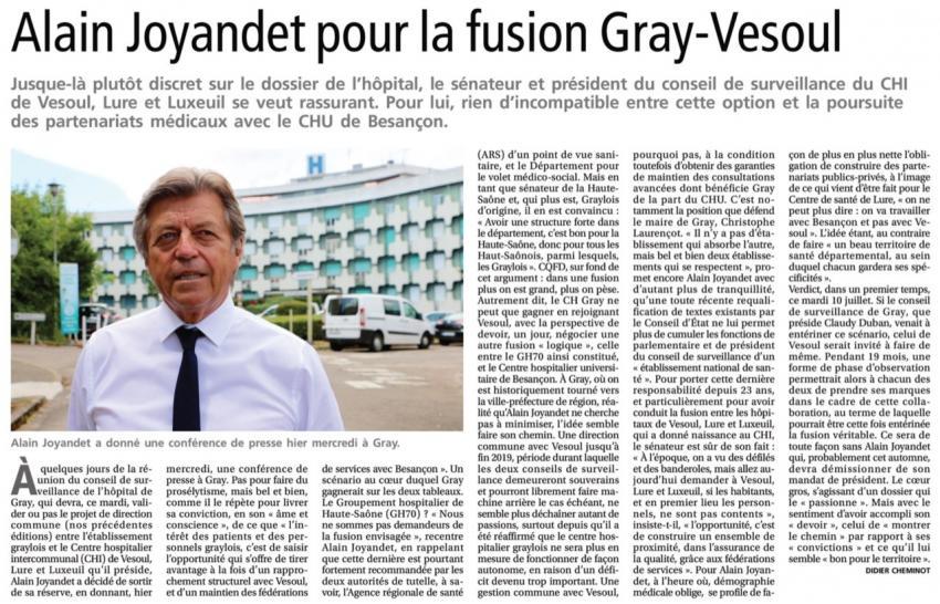 La presse de Gray, 5 juillet 2018